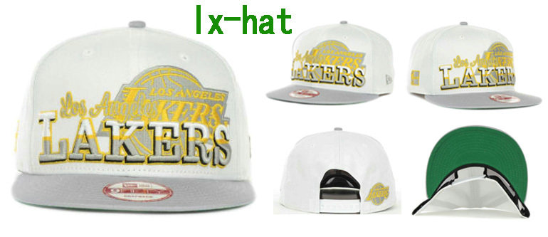 Los Angeles Lakers White Snapback Hat GF